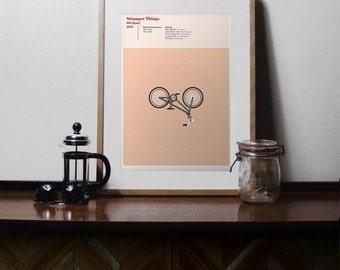 Stranger Things Print - Will Byers, Movie Poster, A4 Illustration Print, Minimal Movie Poster, Bike, Stranger Things Poster, minimal print