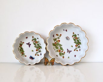 Vintage Pair Quiche Tart Dishes