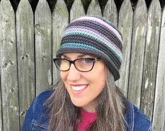 Crochet Pattern ~ Lucy Beanie ~ Unisex All Ages Crochet Pattern