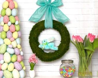 Bunny Wreath - Spring Wreath - Choose Bunny Color - Easter Wreath