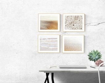 beach photography // modern abstract beach art // ocean art print set // - set of four beach prints (11x14 / 8x10 / 5x7)