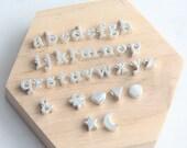Alphabet Bead, Alphabet Charm, Letter Charm, Sterling Silver Letter Bead, Lowercase Letter Charm, Initial Charm, Letter Alphabet Beads, 7mm