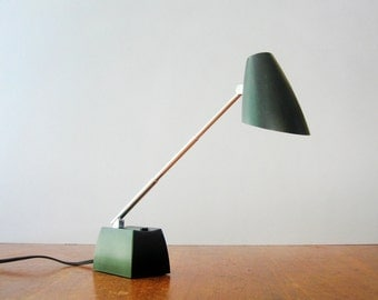 Vintage Mid Century Lytegem Adjustable Black Desk / Task Lamp