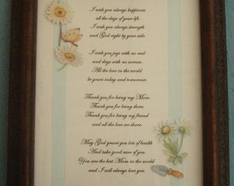 Mom's Framed Poem