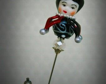 Women's Victorian Circus Hatpin: Calliope