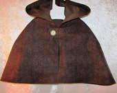 Baby's Fully Lined Tweed Cape With Hood: Hobbit, Dr Who, Sherlock Holmes, LOTR, Woodland - All Cotton - Size 6 months, Ready To Ship Now