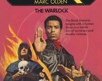 Black Samurai 6: The Warlock - 10x16 Giclée Canvas Print of a Vintage Pulp Paperback Cover