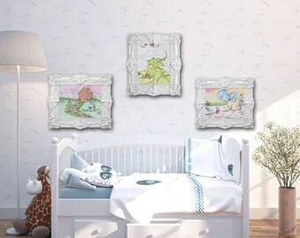 Fairytale Themed Set | Nursery Art | Playroom Decor | Fairytales | Original watercolor | Art prints | Baby Registry | Baby room decor