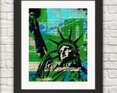 Statue of Liberty Art- New York Art-New York print-New York Gift-Statue of Liberty Gift-Statue of Liberty home decor-NewYork Art