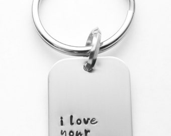 I love your stinking guts necklace - Valentine gift - hand stamped stainless steel - necklace OR key ring