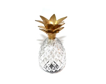 Glass Pineapple Crystal Pineapple Pineapple Vase Pineapple Paperweight Pineapple Glass