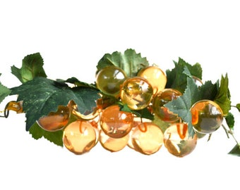 Lucite Grapes Acrylic Grapes Champagne Grapes Grape Cluster Faux Fruit Fruit Bowl Retro Mid Century Modern