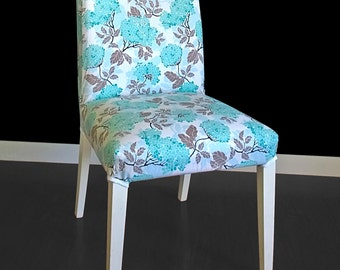 IKEA HENRIKSDAL Dining Chair Cover - Hydrangea Egg Blue
