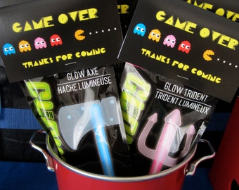 Pac-Man Favor Topper Download Digital Birthday Party PacMan