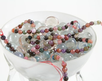 15 inch Rainbow Agate Strand - Round Faceted gemstone bead 6mm