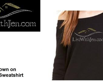 Bling ListWithJen.com Custom Rhinestone Shirt