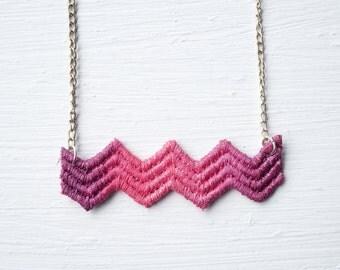 Chevron Ombre Lace Necklace