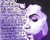 Prince, Prince Art, Prince Quotes, Purple Rain, Prince Portrait, Prince Painting, Inspirational Art, Art Prints, Motivational Art, Musician