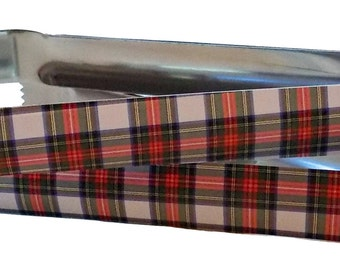 Dress Stewart Tartan Plaid Buffet Tongs