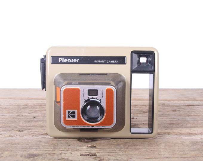 Vintage Kodak Pleaser Camera / Vintage Kodak Instant Camera / Old Film Camera / Retro Camera / Camera Decor / Orange Kodak Camera