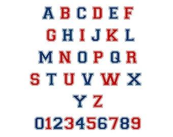 College Letter Jacket Font