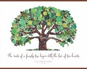 Wedding Gifts Roots of a Family Tree Begins with Love of Two Hearts Family Established Sign Wedding Button Art Tree of Life Housewarming