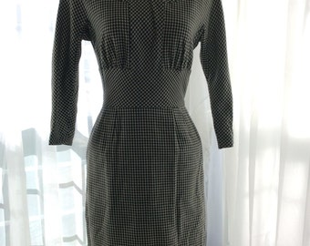 MAD MEN PERFECTION 1960s hounds tooth dress
