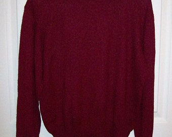 Vintage Ladies Wine Sweater by Nygard Collection Medium Only 8 USD