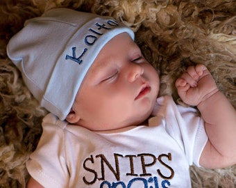 Personalized Infant Hospital Hat, Personalized Newborn Beanie, Take  Home  Hat, Baby Name Hat, Newborn Hospital Hat, Embroidered Baby Hat