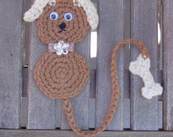 Dog Crochet Bookmark - with Bone