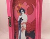 Pink Star Wars Princess Leia Upcycled Jewelry Box