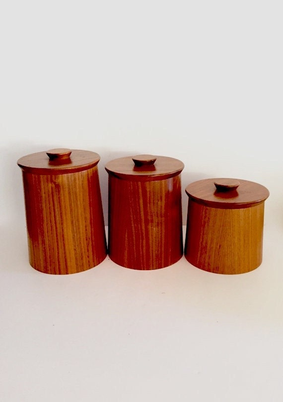 Danish Modern Style Canisters