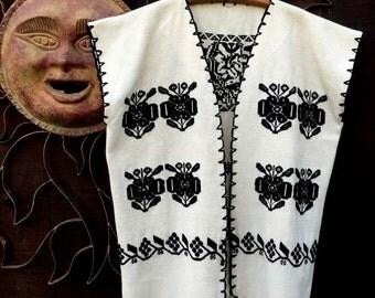 Vintage Ethnic Vest, Bohemian, Hippie, Folk, Festival Wear