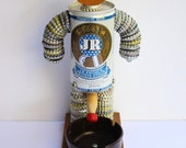 Vintage Retro 60s 70 JR Beer Can Bottle Cap Folk Art EPIC Peeing Man Ashtray