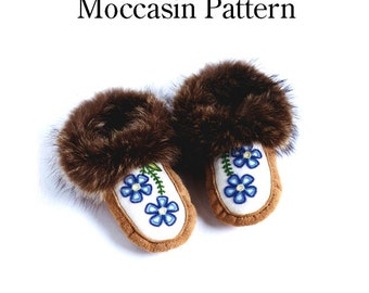 Women's moccasin pattern, all sizes - download