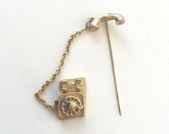 Cute Vintage Avon Rotary Telephone Pin