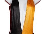 Yellow and Black Fetish Bodysuit Deep V Neck Low Cut Halter Neck Body suit backless Body Lingerie  Medium
