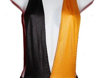 Yellow and Black Fetish Bodysuit -Deep V Neck Low Cut Halter Neck Body suit- backless Body Lingerie - Medium