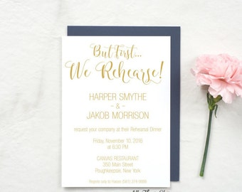 Wedding Rehearsal Dinner Invitations, Rehearsal Invitations, Rehearsal Dinner Invites, Ceremony Rehearsal Invitations, Harper