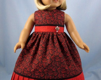 Doll Clothes 18 Inch - fits American Girl doll - Red Doll Dress and Hair bow - Doll Sundress - 18 Inch Doll Clothes