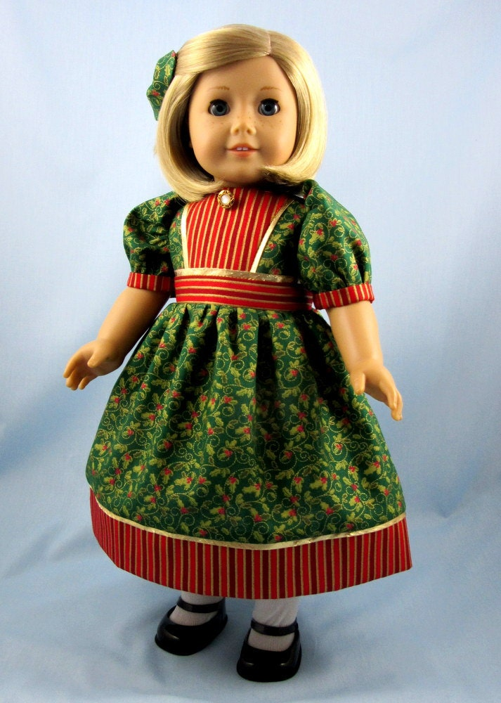 Clearance christmas dress for 18 inch doll by sewmygoodnessshop
