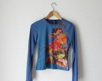 Floral shirt Vintage long sleeve floral shirt 90s