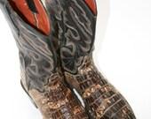 Size 8 El Dorado Thieves Market Cowgirl Boots Crocodile