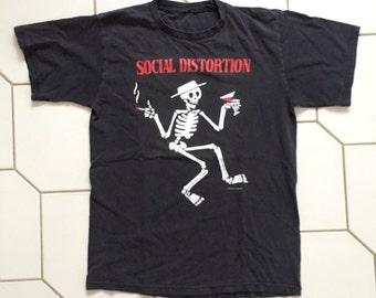 vintage SOCIAL DISTORTION shirt - 1996 - Size Medium