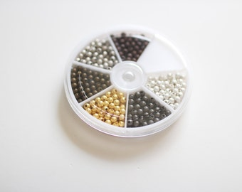350 Spacer Beads - 4mm - Stardust Finish Case - Assorted - Ships IMMEDIATELY from California - CASE10