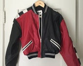 CHIA Leather Bomber Jacket RARE