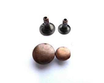 Snap Rivets, Copper Snap Rivets, 7 mm, 9 mm, 10 mm, Copper Tone Rivets, Antique Copper Rivets, Antique Snap Rivets, Oxidized Rivets, Grommet