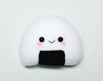 Onigiri Rice ball plushie- Plushie- Kawaii- Onigiri-Black and white- Squishy-Kawaii-Squishy Onigiri Rice Ball Plush- food Toy-Christmas Gift
