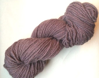 1 Skein Naturally Dyed 100% Wool Yarn - Logwood