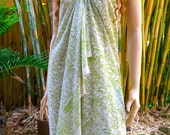 Batik Green Sarong, Cover up, Pareo E